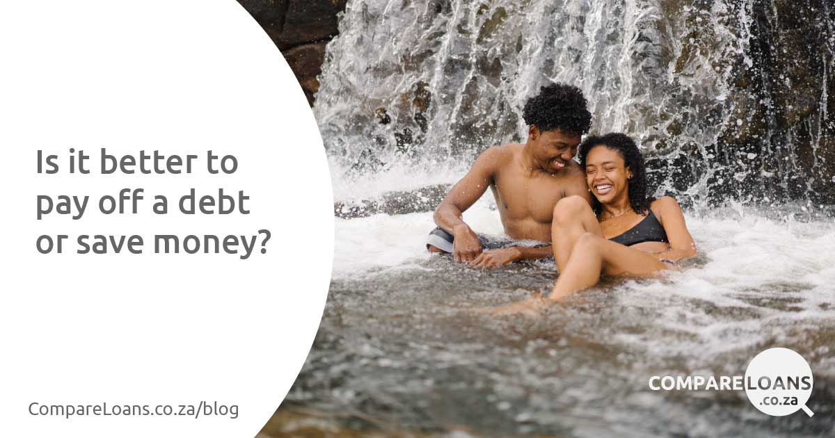 Is it better to pay off a debt or save money?