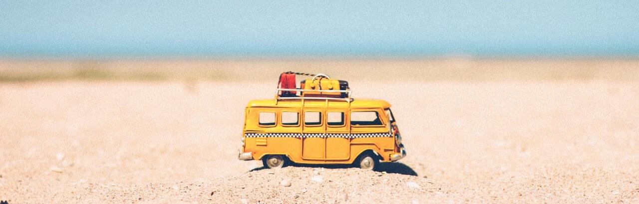 Campervan on sand